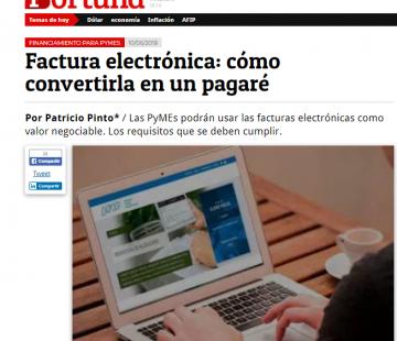 Factura electrónica: cómo convertirla en un pagaré